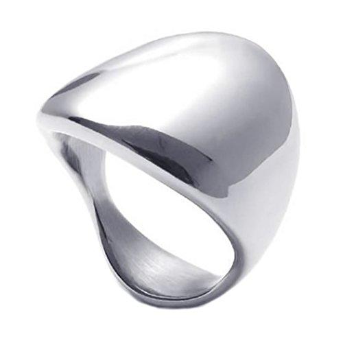 KONOV Schmuck Herren-Ring, Damen-Ring, Edelstahl, Klassiker Elegante, Silber