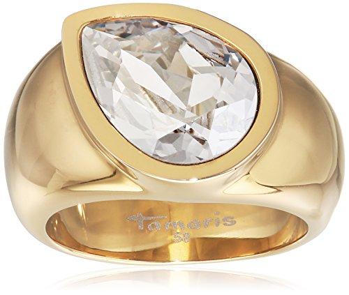 Tamaris Damen-Ring Amy Edelstahl Zirkonia silber Gr. 58 (18.5) - A00211017