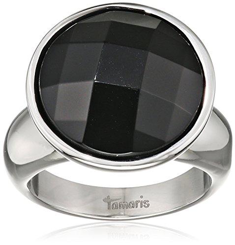 Tamaris Damen-Ring Jane Edelstahl Glas schwarz -  A03510062