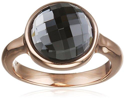 Tamaris Damen-Ring Pina Edelstahl Glas schwarz Gr. 58 (18.5) - A06312037