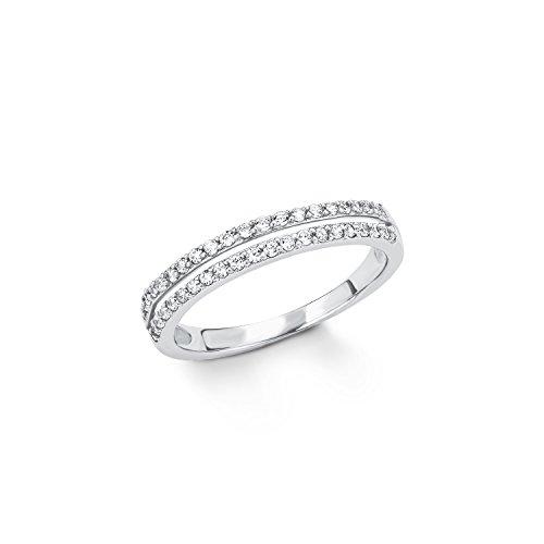 s.Oliver Damen-Ring 5 mm 925 Silber rhodiniert Zirkonia weiß