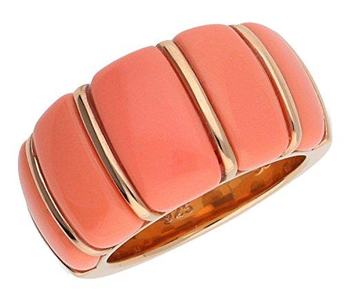 Joop Damen Fingerring 925 Silber Rosegold Coral JPRG90712C