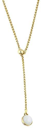 Joop! Damen-Halskette Messing Katzenauge weiß 44 cm-JPNL00007B450