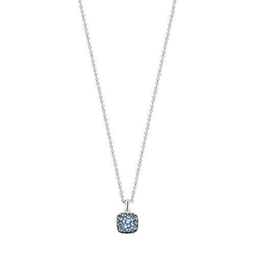 Joop! Damen-Kette mit Anhänger JP-M PAVE 925 Silber Glas blau 42 cm-JPNL90769D420