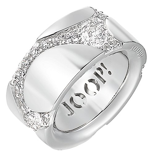 Joop Damen-Ring 925 Sterling Silber rhodiniert Kristall Zirkonia Junction weiß