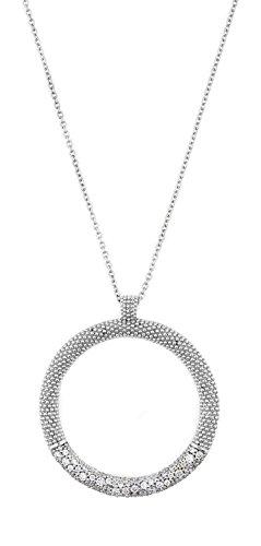 Joop Kette JPNL90570D490 Damen Collier Spume Sterling-Silber 925 Weiß Zirkonia 80 cm