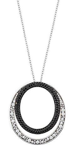 Joop Kette JPNL90600C800 Damen Collier Statement Sterling-Silber 925 Schwarz Zirkonia 80 cm