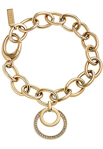 JETTE Magic Passion Damen-Armband Metall 31 Kristall One Size, gold