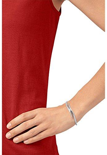 JETTE Silver Damen-Armreif Silber 116 Zirkonia One Size, silberfarben