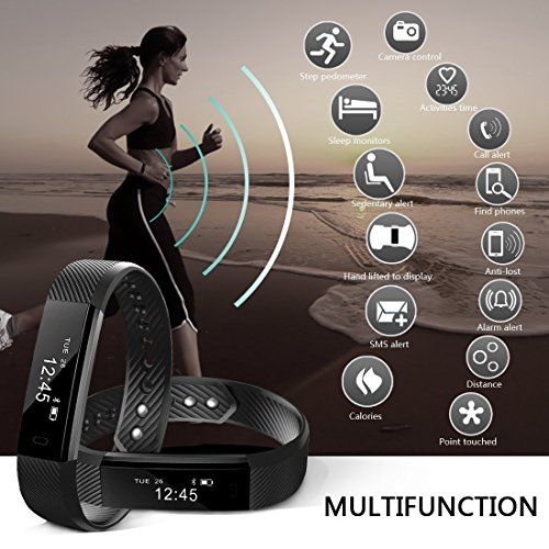 Fitness tracker Aktivitätstracker Smart Armband Bluetooth supportverzoek remind externe zelfactiveerder Smart Watch calorieënteller Wireless pedometer Sport slaap monitor activiteit tracker voor Android iOS telefoon