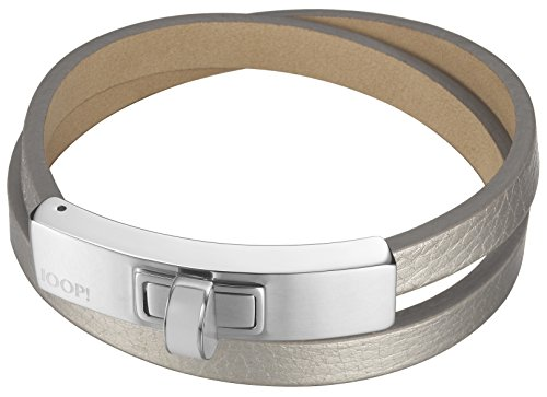 Joop! Damen-Armband Edification Edelstahl rhodiniert Leder 20 cm - JPBR10360A200