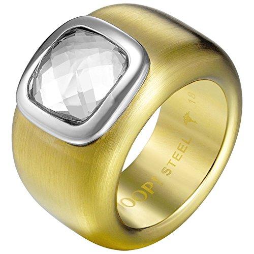 Joop! Damen-Ring Edelstahl Zirkonia weiß Quadratschliff Gr. 56 (17.8) - JPRG10629B190