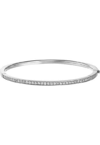 JETTE Silver Damen-Armreif Basic 925er Silber rhodiniert 32 Zirkonia silber, One Size