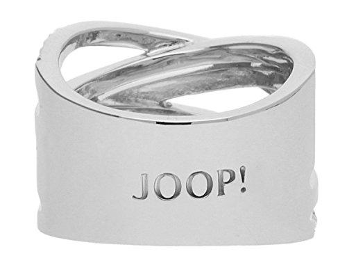 Joop! Damen-Ring Edelstahl Glas weiß Gr. 56 (18) - JPRG00005A180