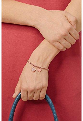JETTE Silver Damen-Armband MY LOVE 925 Silber rhodiniert 34 Kristalle (silber/rosé) One Size, rosé