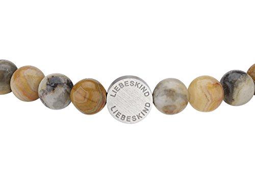 LIEBESKIND BERLIN Damen-Armband Edelstahl mattiert 17 cm - LJ-0086-B-17