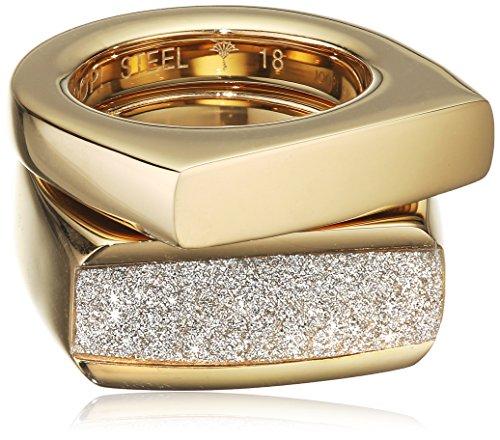 Joop! Damen-Ring Edelstahl Zirkonia metallic Brillantschliff Gr. 56 (17.8) - JPRG10630A190