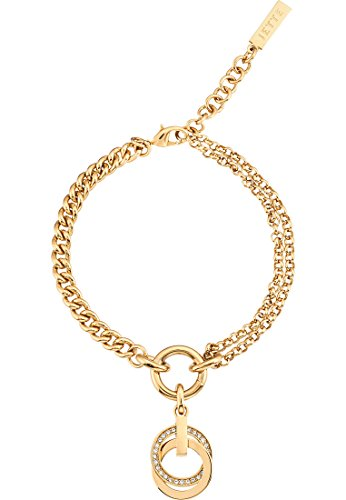 JETTE Magic Passion Damen-Armband SWING Metall 27 Kristall One Size, gold