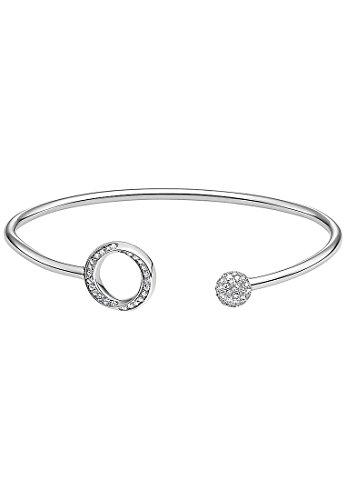 JETTE Silver Damen-Armreif 925er Silber 97 Zirkonia One Size, silber