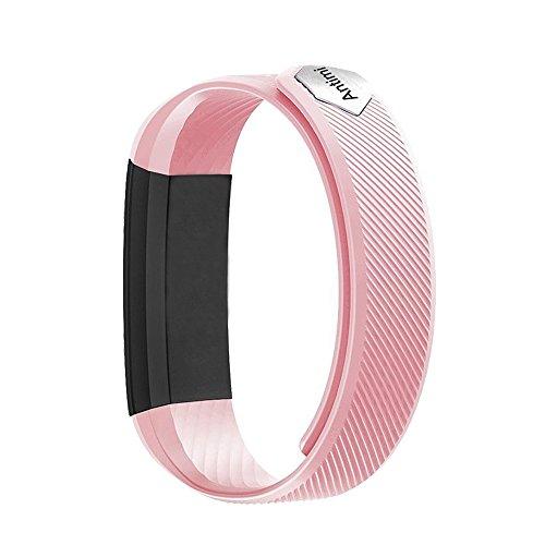 Antimi Fitness Armband, fitness tracker smart bracelet Smartwatch für Android Smartphone und iPhone, Schrittzähler, Push-Message und Anrufer - ID Benachrichtigung (Pink)