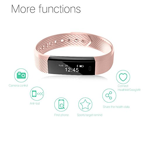 Smart Fitness Activity Tracker, 11TT YG3 Sports Armband Wristband Schrittzähler Touchscreen mit Step Tracker / Kalorienzähler / Sleep Monitor Tracker / Call Benachrichtigung Push für iPhone iOS und Android Phone
