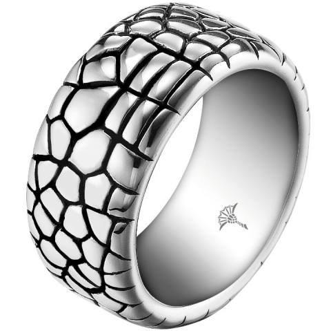 Joop! Damen-Ring Edelstahl mit Animalprint Gr. 61 (19.4) JPRG10575A610