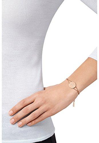 JETTE Silver Damen-Armband MY LOVE 925er Silber rhodiniert 1 Zirkonia One Size, rosé