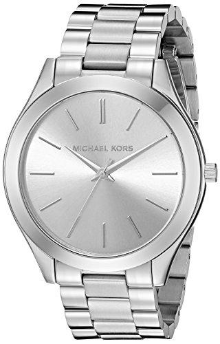 Michael Kors Damen-Armbanduhr Analog Quarz One Size, silber, silber