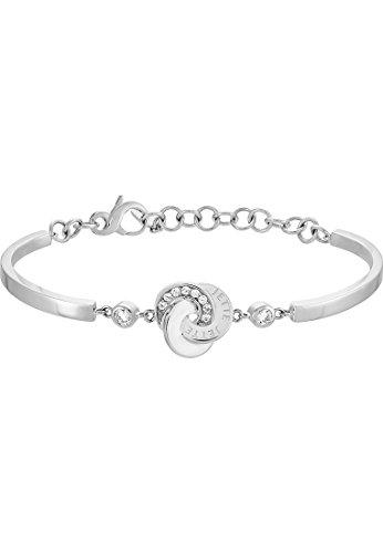 JETTE Silver Damen-Armband Circles 925er Silber rhodiniert 10 Zirkonia One Size, silber