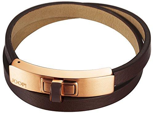 Joop! Damen-Armband Edification Edelstahl rhodiniert Leder 20 cm - JPBR10360F200