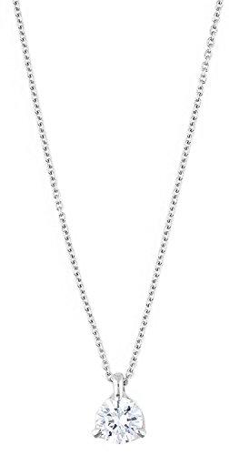 Joop! Damen-Collier 925 Silber Zirkonia weiß Rundschliff 40 cm - JPNL90764A420