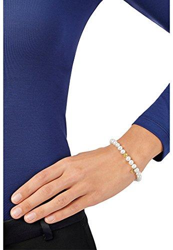 JETTE Gold Damen-Armband JETTE Gold 585er Gelbgold 27 Süßwasser-Zuchtperle One Size, weiß
