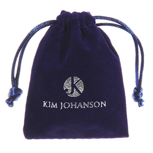 """Kim Johanson Damen Schmuckset """"Lisa"""" Halskette mit Anhänger, Ohrringe & Armband aus 925 Sterling Silber & Edelstahl mit Zirkonia Steinchen besetzt inkl. Schmuckbeutel"""