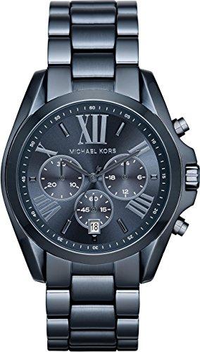 Michael Kors Damen-Armbanduhr Analog Quarz One Size, blau, blau