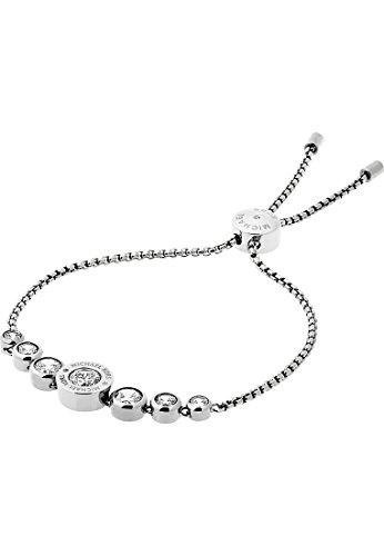 Michael Kors Damen-Armband Edelstahl 7 Glasstein One Size, silber