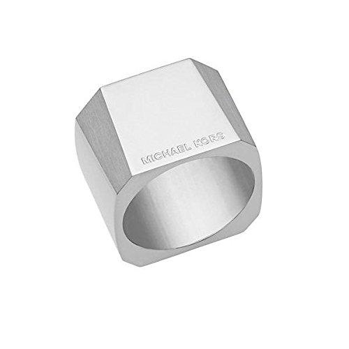 Michael Kors Damen-Ring Edelstahl Silber Größe 58 MKJ5932040-8