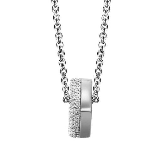 Joop Damen-Halskette 925 Sterling Silber Jane Zirkonia-Pavée weiß 48 cm (45 + 3 cm) JPNL90605A450