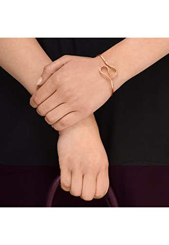 JETTE Magic Passion Damen-Armreif Tattoo U Metall 59 Kristall One Size, rosé