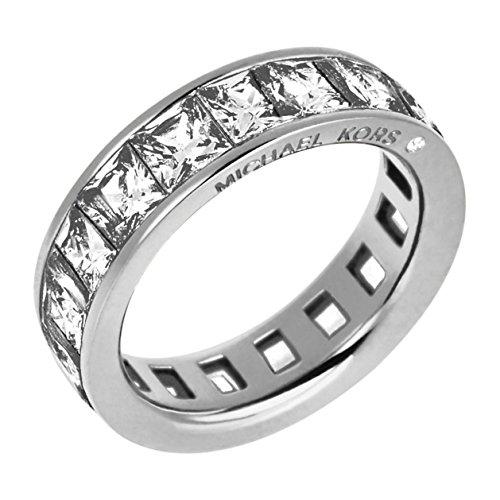 MICHAEL KORS Damen-Ring Edelstahl Glas silber Gr. 60 (19.1) - MKJ4751040-60
