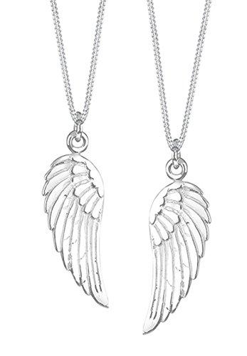 Elli Damen Partnerkette Flügel 925 Sterling Silber 905550911