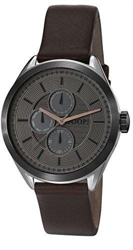 Joop! Herren-Armbanduhr GEORGE Analog Quarz Leder