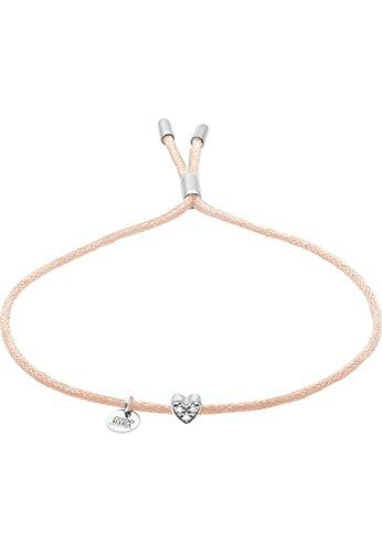 Guido Maria Kretschmer Damen-Armband 925er Silber Diamant One Size, beige/silber