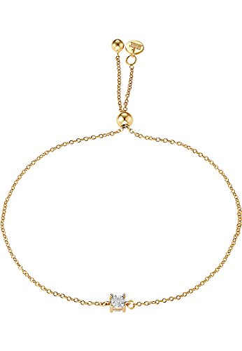 Guido Maria Kretschmer by CHRIST Damen-Armband 375er Gelbgold 1 Diamant 0,05 ct. One Size, gold