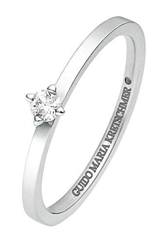 Guido Maria Kretschmer Damen-Ring 375er Weißgold 1 Diamant ca. 0,05 ct. weißgold, 54 (17.2)