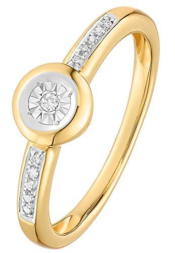 Guido Maria Kretschmer Damen-Ring 375er Gelbgold, 375er Weißgold 1 Diamant 10 Diamant zus. ca. 0,07 ct. gold, 52 (16.6)