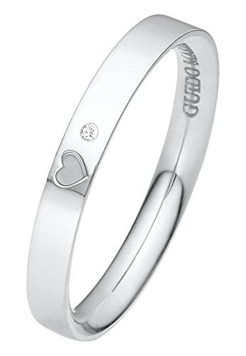 Guido Maria Kretschmer Damen-Ring 375er Weißgold 1 Diamant ca. 0,01 ct. weißgold, 52 (16.6)