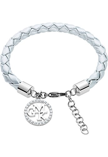 GMK Collection by CHRIST Damen-Armband Edelstahl/Lederimitat 25 Zirkonia One Size, silber