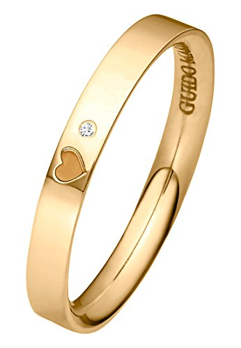 Guido Maria Kretschmer Damen-Ring 375er Gelbgold 1 Diamant ca. 0,01 ct. gold, 52 (16.6)