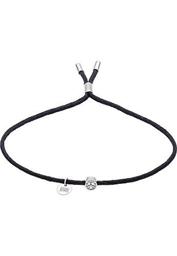Guido Maria Kretschmer Damen-Armband 925er Silber Diamant One Size, schwarz