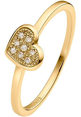 Guido Maria Kretschmer Damen-Ring 375er Gelbgold 8 Diamant zus. ca. 0,04 ct. gold, 54 (17.2)